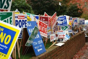 Yard Sign With Different Stands