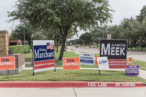 Political Big Campaign Signs for 2018 Primaries